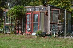 eclectic greenhouse- Use what you've got to bring your ideas to life!