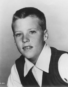 Ricky Nelson child actor portrait