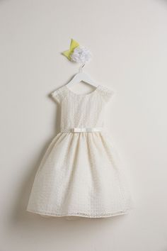 Flower Girl Dress Style 555- Circle Embroidered Organza Dress $48.99