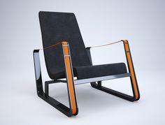 The Cité lounge chair, 1930, by Jean Prouvé