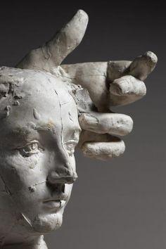 Auguste Rodin. Assemblage : Masque de Camille Claudel et main gauche de Pierre de Wissant