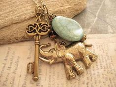 Key to Africa charm necklace $8.50