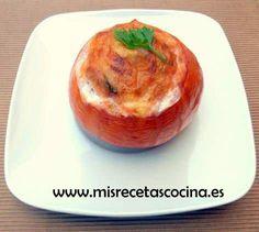 Tomates Rellenos Thermomix de Pimiento, Atun y Anchoas