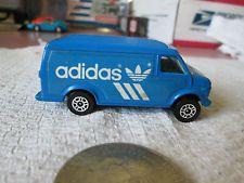 Corgi Juniors Blue Adidas Chevrolet U. Vintage Adidas, Blue Adidas, Britain, Chevrolet, Tennis, Corgi, Van, Corgis, Real Tennis