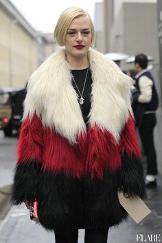 #Street Style FashionWeek Fall/Winter 2013-2014 #Photographer:Anthea Simms #Trend New Fur