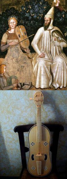 Viella: Andrea di Buonaiuto (1365-1367) Cappellone degli Spagnoli, S. Maria Novella, Firenze Renaissance Music, Medieval Music, Renaissance Paintings, Baroque Composers, Old Musical Instruments, Ancient Music, Early Music, Violin Music, Music Pictures