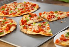 Pepperoni Tortilla Pizzas for easy individual-size pizzas