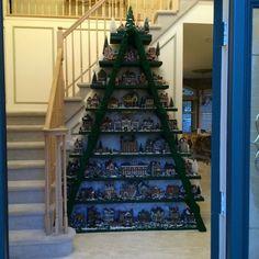 Christmas village shelving unit