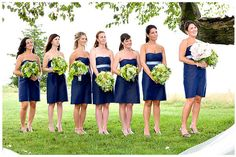navy blue bridesmaids dresses