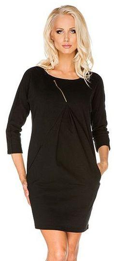 sukienka ciążowa paula czarna # l