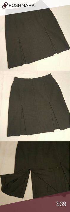 Double sided zipper skirt. Grey skirt with 2 zippers both in the back and in the front. In great condition like new. 20in. Long Skirts Midi