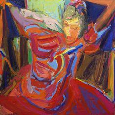 "Painting "" Bailadora "" by Artist Ezequiel Rosenfeldt (2012, oil on canvas, 120 x 120 cm) at Ricci & Lastiri Art Gallery @riccilastiri Be Smart By Art"