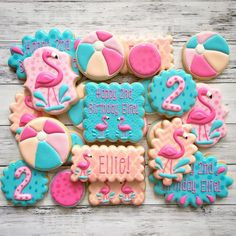 Birthday flamingos!!