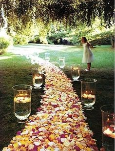 imagine walking down this aisle when it's a bit darker; those lanterns would look amazing