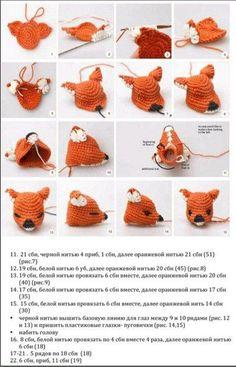 How to fasten off closed crochet projects Crochet Applique Patterns Free, Easter Crochet Patterns, Crochet Doll Pattern, Amigurumi Patterns, Crochet Deer, Crochet Animals, Deer Pattern, Amigurumi Doll, Amigurumi Minta