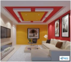 5 Connected Tips: Curved False Ceiling Interior Design l shaped false ceiling design.L Shaped False Ceiling Design wooden false ceiling bedroom. House Ceiling Design, Ceiling Design Living Room, Bedroom False Ceiling Design, Living Room Flooring, Living Room Designs, Living Room Fans, False Ceiling Living Room, Diy Interior, Home Interior Design