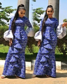 The complete pictures of latest ankara long gown styles of 2018 you've been searching for. These long ankara gown styles of 2018 are beautiful African Fashion Designers, Latest African Fashion Dresses, African Inspired Fashion, African Dresses For Women, African Print Dresses, African Print Fashion, Africa Fashion, African Attire, African Wear