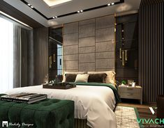 Modern Contemporary Bedroom in New Cairo on Behance Modern Luxury Bedroom, Luxury Bedroom Design, Room Design Bedroom, Bedroom Furniture Design, Home Room Design, Contemporary Bedroom, Luxurious Bedrooms, Modern Contemporary, Contemporary Kitchens
