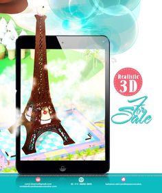 Torre Eiffel  http://www.behance.net/gallery/Campanha-3D/10884357