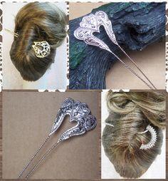 Vintage Indonesian hair pick hair pin hair fork by ElrondsEmporium