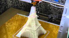3D Printing: The Eiffel Tower  //Reprap Prusa i3