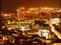 #Liverpool at night from the #Anglicancathedral #radiocity