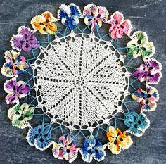Crochet Pansy Doily Free Pattern