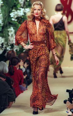Yves Saint Laurent Paris Haute Couture  Fashion Week 1994; July 20, 1994