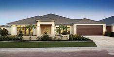 Timber Garage Door Modern House Design 66 Ideas For 2019 Bungalow House Design, Modern Bungalow, Modern House Design, Modern Exterior, Exterior Design, Rendered Houses, House Front, My House, House Color Schemes
