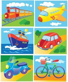 Medios de transporte Preschool Learning Activities, Alphabet Activities, Toddler Activities, Preschool Activities, Kids Learning, Transportation Activities, Teaching Aids, Drawing For Kids, Kids Education