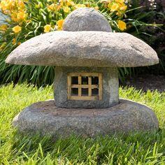 Japanese Style Natural Stone Lantern Set of Two Japanese Garden Lanterns, Japanese Stone Lanterns, Small Japanese Garden, Japanese Garden Design, Japanese Style, Garden Deco, Garden Art, Dragon Garden, Japan Garden