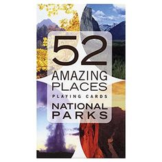 Card Deck With National Parks Photos And Facts. Game playing is part of every birthday party, right? It is also a great way to get kids and adults ready to experience the National Parks as well as alternatives to outdoor activities if the weather turns bad during your stay. We found awesome educational games for kids, coloring books for everyone as well as cards, dice, puzzles, board games and more!