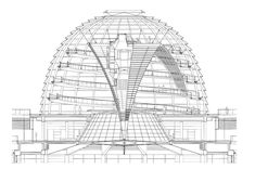 Image 10 of 10 from gallery of AD Classics: New German Parliament, Reichstag / Foster + Partners. Photograph by Foster + Partners German Architecture, Architecture Concept Drawings, Futuristic Architecture, Sustainable Architecture, Contemporary Architecture, Architecture Design, Foster Architecture, Religious Architecture, Amazing Architecture