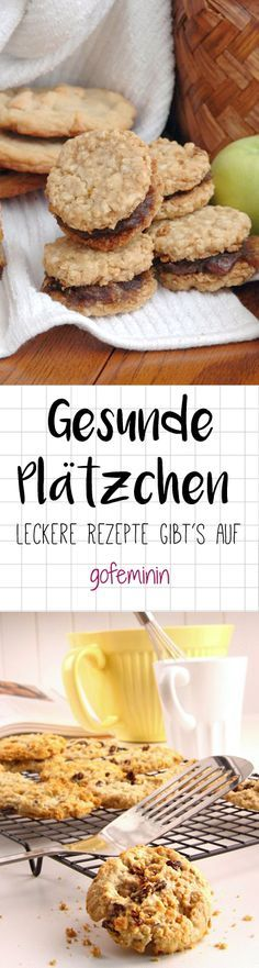 Die schmecken auch den Kleinsten! Cookie Recipes, Diet Recipes, Vegan Recipes, Healthy Sweets, Healthy Snacks, Cookie Time, Cakes And More, Food Inspiration, Kids Meals