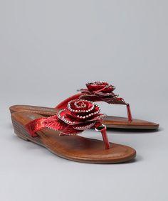 Red Rose sandals.