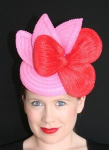 #Oaks #Day – #Spring #Racing Fashion. Hat designed by Christine Waring. Check out our blog for Spring Racing Fashion tips