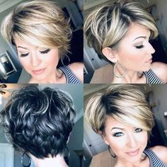 Long-Pixie-Hair Popular Short Layered Hair Source by armande ideas makeup Cute Hairstyles For Short Hair, Trendy Hairstyles, Curly Hair Styles, Layered Hairstyles, Short Haircuts, Hairstyles 40 Year Old, 40 Year Old Hair Styles, Haircut Short, Blonde Hairstyles
