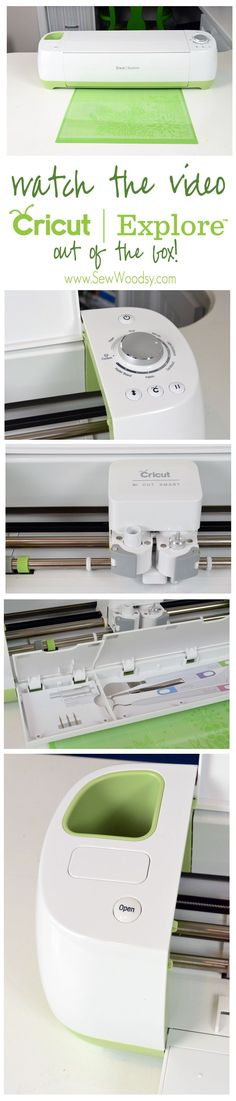 Watch the Video about the @Cricut®® Explore Out of the Box from SewWoodsy.com #Cricut #Video #DIY