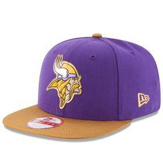 Men s Minnesota Vikings New Era Purple Gold Gold Collection Original Fit  9FIFTY Snapback Adjustable Hat 4ed786299