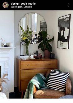 Bedroom Design Inspiration, Bedroom Inspo, Bedroom Ideas, Dresser As Nightstand, Back Home, Entryway Tables, Indoor, Cosy, Rain