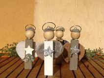 ♥♥ 4 Stück Tischdeko Kommunion (Schutz-) Engel ♥♥
