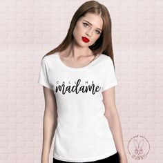 T-Shirt Call me Madame, by Oui Oui Bunny ! Delivery to UK