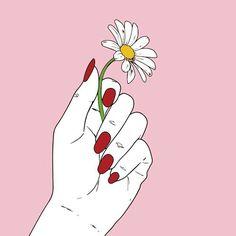 Imagen de pink, flowers, and hand