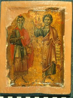 Holy Forefathers and Prophets of God - Aaron and Moses, The Seer Of God c., St Catherine's Monastery, Sinai) Byzantine Icons, Byzantine Art, Vatican Library, Constantine The Great, Best Icons, Icon Collection, Religious Icons, Orthodox Icons, Christian Art