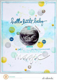 Hello Little Baby *Ali Edwards Digital CT* by celinenavarro at @studio_calico