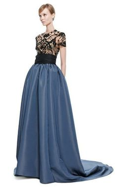 Ribbon Embroidered Ball Gown by Marchesa for Preorder on Moda Operandi