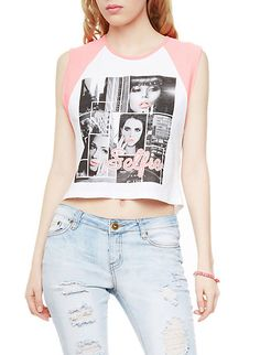 Rainbow Shops Boxy Graphic Tank Top with Selfie Print $6.99