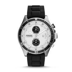 Another stylish watch by Fossil, the Wakefield Chronograph Silicone Watch. I'm not a big fan of silicone straps, but I have to admit this watch looks good. This watch retails for $125 US.