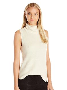 Abel Sleeveless High Neck Sweater in Cream