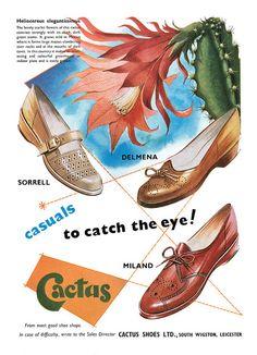 1955 Cactus Shoes ad. #vintage #1950s #shoes